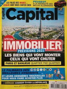 Le journal Capital couverture spécial immobilier